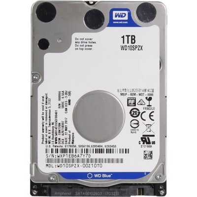 Жесткий диск ПК Western Digital 1Tb SATA-III WD10SPZX Blue (5400rpm) (WD10SPZX), арт: 271170 -  Жесткие диски ПК Western Digital