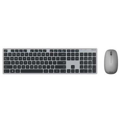 Комплект клавиатура+мышь ASUS W5000 USB беспроводная slim Multimedia (90XB0430-BKM0J0) клавиатура oklick 570m black usb slim multimedia