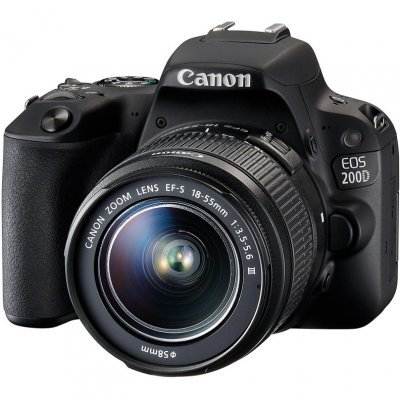 купить Цифровая фотокамера Canon EOS 200D EF-S 18-55mm черный (2250C011) недорого