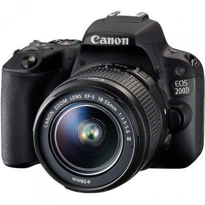Цифровая фотокамера Canon EOS 200D EF-S 18-55mm черный (2250C011) canon eos 50d kit ef s 18 200