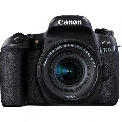 Цифровая фотокамера Canon EOS 77D EF-S 18-55mm черный (1892C017) canon eos 50d kit ef s 18 200