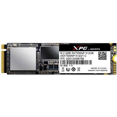 Накопитель SSD A-Data ADATA 512GB SX7000 m.2 XPG PCIe 2280 3D TLC (ASX7000NP-512GT-C) adata a data asp900s3 512gm c 512гб