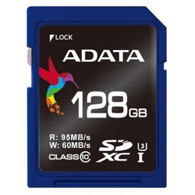 Карта памяти A-Data ADATA Premier Pro 128GB SDXC class10 USH-I U3 (ASDX128GUI3CL10-R), арт: 271802 -  Карты памяти A-Data