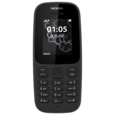 Мобильный телефон Nokia 105 Dual sim (2017) черный (A00028315) стоимость