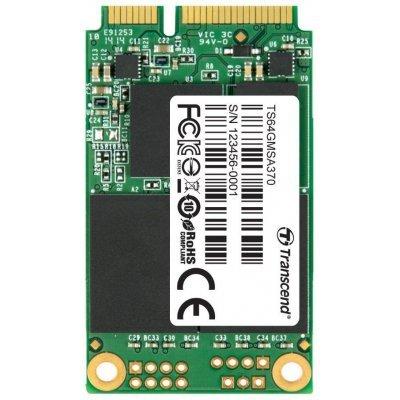 Накопитель SSD Transcend 64GB TS64GMSA370 mSATA (TS64GMSA370) накопитель ssd transcend ts480gssd220s ts480gssd220s