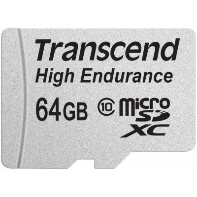 Карта памяти Transcend 64GB microSDHC Card UHS-I Class 10 High Endurance TS64GUSDXC10V (TS64GUSDXC10V) transcend карта памяти 4gb secure digital card class 10 transcend ts4gsdhc10