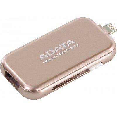 USB накопитель A-Data i-Memory Elite UE710, 64GB, USB 3.0/Lightning, Rose Gold (AUE710-64G-CRG), арт: 273098 -  USB накопители A-Data