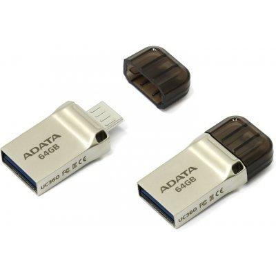 USB накопитель A-Data DashDrive UC360 64GB Золотой (AUC360-64G-RGD), арт: 273106 -  USB накопители A-Data