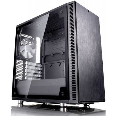 Корпус системного блока Fractal Design Define Mini C TG черный без БП (FD-CA-DEF-MINI-C-BK-TG) корпус matx fractal design define mini c tg mini tower без бп черный