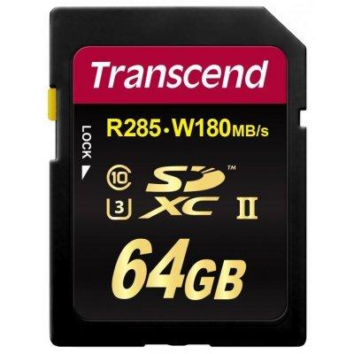 Карта памяти Transcend 64GB SDXC Class 10 UHS-II U3 (TS64GSD2U3) transcend microsdxc class 10 uhs i 64gb карта памяти адаптер