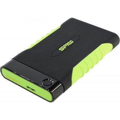 Внешний жесткий диск Silicon Power A15 2Tb SP020TBPHDA15S3K Armor черный/зеленый (SP020TBPHDA15S3K), арт: 273182 -  Внешние жесткие диски Silicon Power