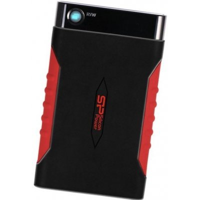 Внешний жесткий диск Silicon Power A15 500Gb SP500GBPHDA15S3L Armor черный/красный (SP500GBPHDA15S3L), арт: 273188 -  Внешние жесткие диски Silicon Power