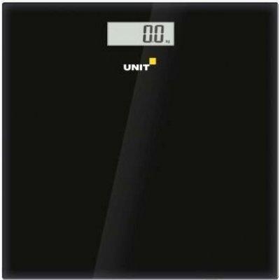 Весы Unit UBS-2052, стекло, без рисунка, 150кг. 100гр. (Цвет: Чёрный) (CE-0462774), арт: 273349 -  Весы Unit
