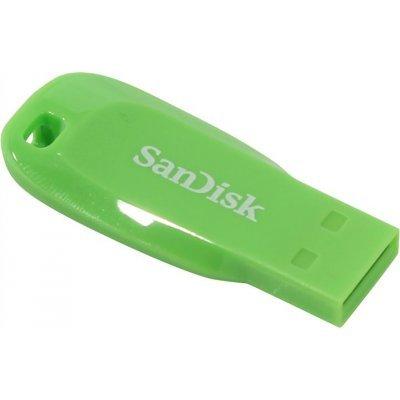 USB накопитель Sandisk 16Gb CZ50 Cruzer Blade, USB 2.0, Green (SDCZ50C-016G-B35GE), арт: 273357 -  USB накопители Sandisk