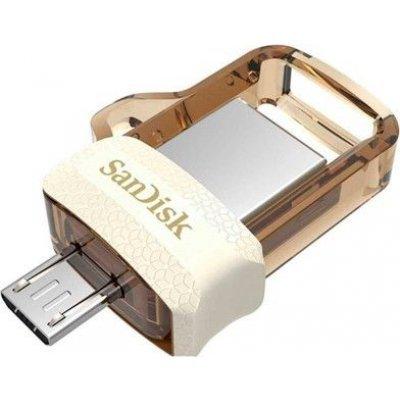 USB накопитель Sandisk 32GB Ultra Android Dual Drive OTG, m3.0/USB 3.0, White-Gold (SDDD3-032G-G46GW), арт: 273370 -  USB накопители Sandisk