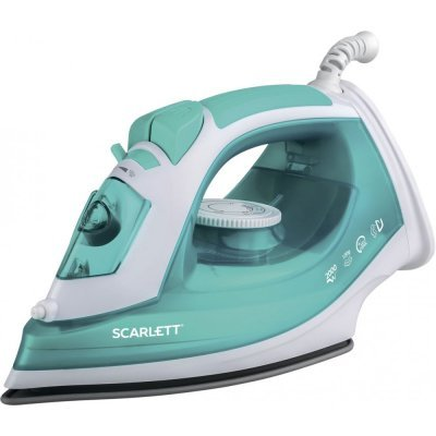 Утюг Scarlett SC-SI30P09 2000Вт белый/бирюзовый (SC - SI30P09) утюг scarlett sc si30p07