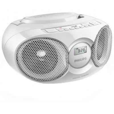 Аудиомагнитола Philips AZ318W/12 белый (AZ318W/12), арт: 273555 -  Аудиомагнитолы Philips