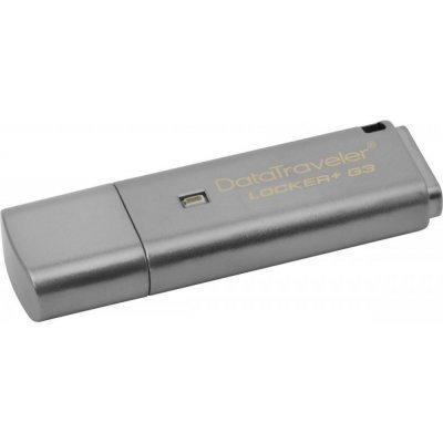 USB накопитель Kingston DataTraveler Locker+ G3 256bit Encryption, 64GB, USB 3.0, металлик (DTLPG3/64GB) флеш диск kingston 64gb datatraveler traveler 100 g3 черный dt100g3 64gb