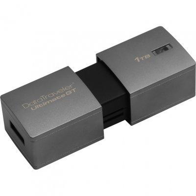USB накопитель Kingston DataTraveler Ultimate GT, 1TB, USB 3.1 G1, Серебристый (DTUGT/1TB), арт: 273664 -  USB накопители Kingston