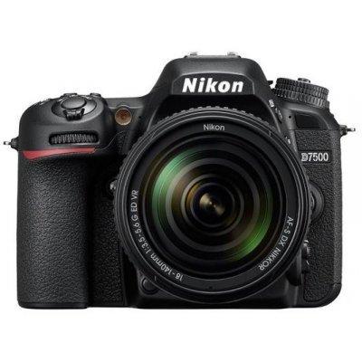 Цифровая фотокамера Nikon D7500 черный 20.9Mpix 18-140mm f/3.5-5.6G VR 3.15 4K 4K SDXC Li-ion (VBA510K002) профессиональная цифровая slr камера nikon d3300 18 140 18 105mm