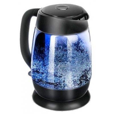 Электрический чайник Redmond RK-G154 1.7л. 2200Вт черный (корпус: стекло) (RK-G154) электрический чайник redmond rk m114 золотой