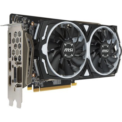 Видеокарта ПК MSI Radeon RX 580 ARMOR 8G OC (RX 580 ARMOR 8G OC) видеокарта 6144mb msi geforce gtx 1060 gaming x 6g pci e 192bit gddr5 dvi hdmi dp hdcp retail