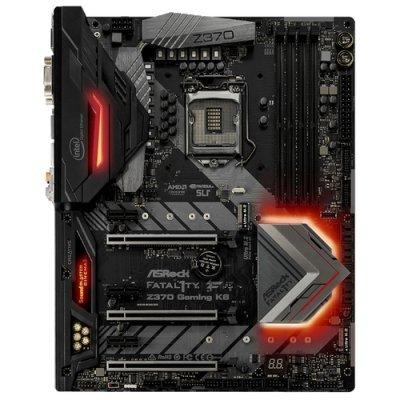 Материнская плата ПК ASRock Fatal1ty Z370 Gaming K6 (Z370GAMINGK6) материнская плата asrock b150m pro4s s1151 b150 matx