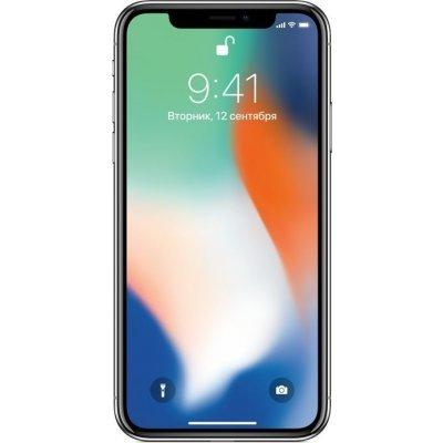 Смартфон Apple iPhone X 64GB серебристый (MQAD2RU/A), арт: 274298 -  Смартфоны Apple