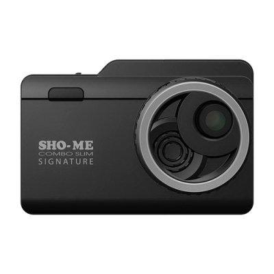 Радар-детектор Sho-Me Combo Slim Signature (COMBO SLIM SIGNATURE) видеорегистратор sho me combo 1 signature
