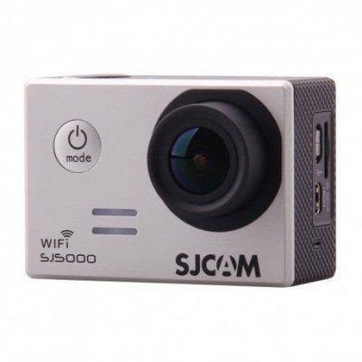 Экшн камера SJCAM SJ5000 WiFi серебристый (SJ5000WIFISILVER) экшн камера sjcam sj5000 красный sj5000red