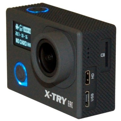 Экшн камера X-TRY XTC240 черный (XTC240 SB) x try xtg300y hd1080p экшн камера