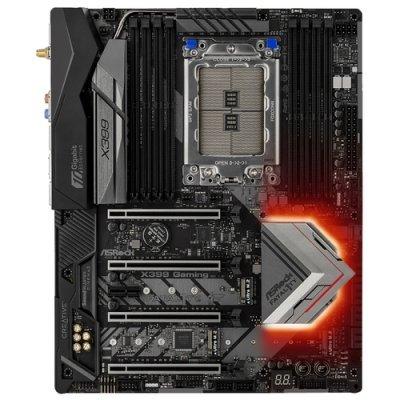 Материнская плата ПК ASRock Fatal1ty X399 Professional Gaming (X399PROFGAMING) материнская плата asrock b150m pro4s s1151 b150 matx