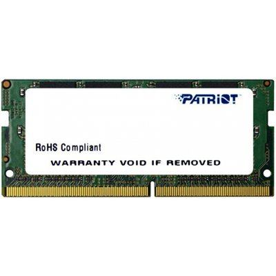 Модуль оперативной памяти ноутбука Patriot PSD44G240041S 4Gb DDR4 (PSD44G240041S) модуль памяти patriot memory ddr4 so dimm 2400mhz pc4 19200 cl17 4gb psd44g240041s