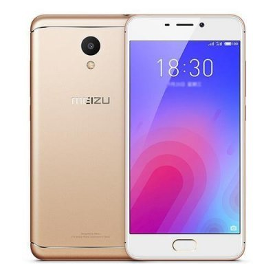 Смартфон Meizu M6 M711H 2/16GB Gold (Золотой) (M711H-16-G) аксессуар чехол meizu mx5 armor air slim gold gb f meimx5 gold