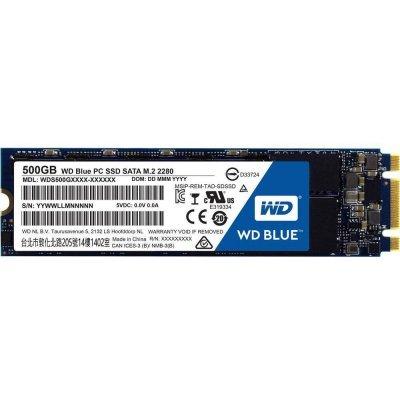 накопитель SSD Western Digital WDS500G2B0B 500GB синий (WDS500G2B0B) жесткий диск пк western digital wd40ezrz 4tb wd40ezrz