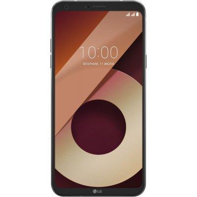 Смартфон LG Q6a M700 черный (LGM700.ACISBK) смартфон lg q6a m700 16gb платиновый моноблок 3g 4g 2sim 5 5 1080x2160 android 7 0 13mpix 802 11bgn bt gps gsm900 1800 gsm1900 mp3 fm
