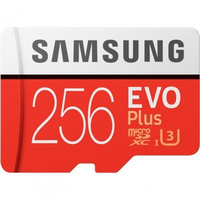 Карта памяти Samsung 256GB MB-MC256GA/RU MicroSDXC EVO Plus v2 UHS-I U3 + SD Adapter (R100/W90Mb/s) (MB-MC256GA/RU), арт: 275658 -  Карты памяти Samsung