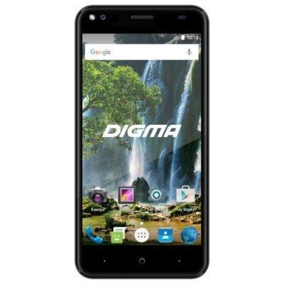 Смартфон Digma VOX E502 4G 16Gb черный (L500B black) смартфон digma linxa400 black