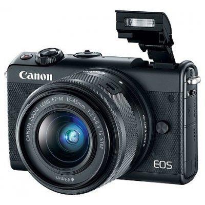 Цифровая фотокамера Canon EOS M100 15-45 IS STM (Black) (2209C012) canon canon eos m100 белый миниатюрный одиночный комплект ef m 15 45mm f 3 5 6 3 is stm объектив