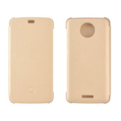 Чехол для смартфона Motorola Moto E Plus Flip Cover Gold WW (PG38C01805) (PG38C01805) смартфон motorola moto c xt1754 16gb черный pa6l0083ru