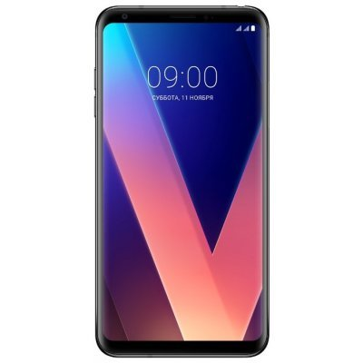 Смартфон LG V30+ 128Gb черный (LGH930DS.ACISBK) смартфон lg q6a m700 16gb платиновый моноблок 3g 4g 2sim 5 5 1080x2160 android 7 0 13mpix 802 11bgn bt gps gsm900 1800 gsm1900 mp3 fm