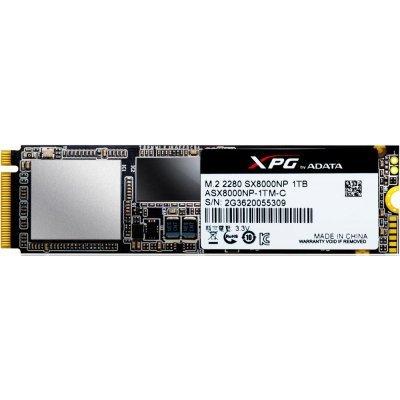 Накопитель SSD A-Data XPG SX8000 1Tb (ASX8000NP-1TM-C) ssd накопитель a data xpg sx7000 asx7000np 256gt c 256гб m 2 2280 pci e x4