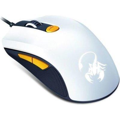 Мышь Genius игровая Scorpion M6-600 белый/оранжевый (31040063103) гарнитура genius hs 04su с устранением шумовых помех для msn