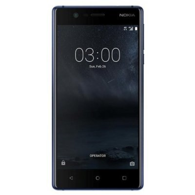 Смартфон Nokia 3 синий (Nokia 3 DS TA-1032 BLUE Смартфон) смартфон nokia 3 dual sim черный 5 16 гб nfc lte wi fi gps 3g ta 1032 11ne1b01a09