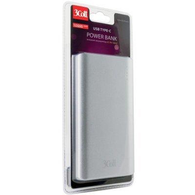 Внешний аккумулятор для портативных устройств 3Cott 3C-PB-100QC, QC3.0, 10000 мАч (3C-PB-100QC), арт: 276853 -  Внешние аккумуляторы для портативных устройств 3Cott