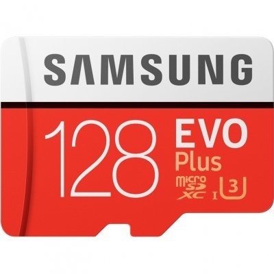 Карта памяти Samsung MicroSDXC 128GB EVO Plus v2 UHS-I U3 + SD Adapter MB-MC128GA (MB-MC128GA/RU)