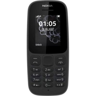 Мобильный телефон Nokia 105 (2017) Black (Черный) (A00028356) мобильный телефон nokia 105 ds black ta 1034