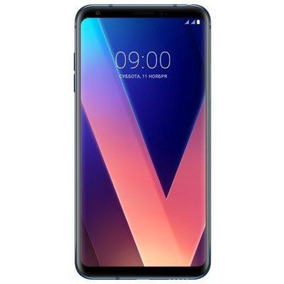 Смартфон LG V30+ 128Gb синий (LGH930DS.ACISBL) смартфон lg q6a m700 16gb платиновый моноблок 3g 4g 2sim 5 5 1080x2160 android 7 0 13mpix 802 11bgn bt gps gsm900 1800 gsm1900 mp3 fm