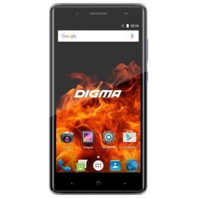 Смартфон Digma VOX FIRE 4G серый (DGS-FIREGR-489299) планшет digma plane 1601 3g ps1060mg black