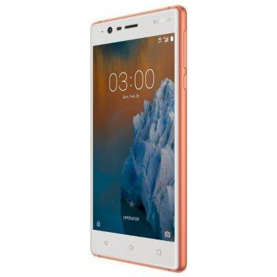 Смартфон Nokia 3 Dual Sim TA-1032 16Gb Gooper Wwite (Медный) (11NE1R01A07) смартфон nokia 8 dual sim polished blue